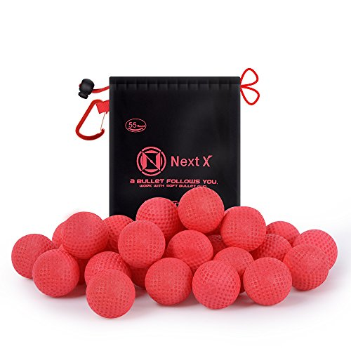 NextX 110-Round Refill Bullets Munitions compatibles à haut impact pour Nerf Rival Guns Blasters-Have Fun with Nerf Masque Veste Tactique (Rouge) (Rouge) Noël