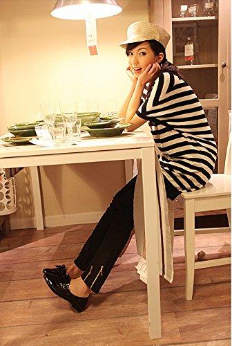 nonbrand Femme Talon UPS en dentelle Noir - noir