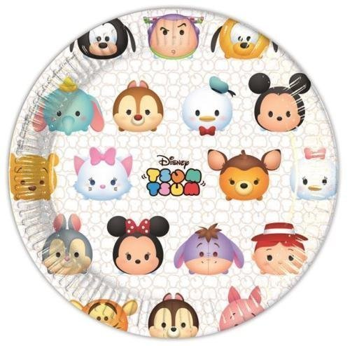 Procos Disney Tsum Tsum papier Party Assiettes à dîner (lot de 8)