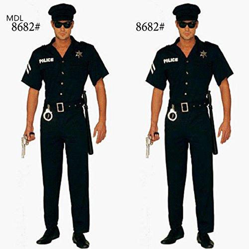 Gorgeous Halloween Kostüme Herren Polizisten Polizei Cosplay Cosplay Kostüme (Polizist Halloween Kostüm Weiblich)