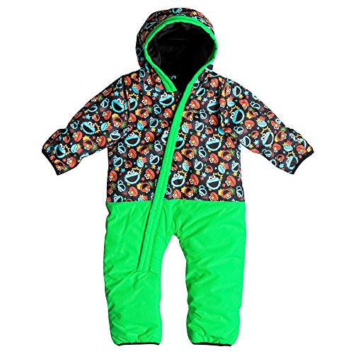 Quiksilver Little Rookie I Snsu Nkl6, Color: Sesame Street Cookie, Size: 3-6M