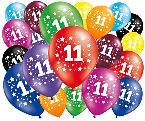 FABSUD–Lote de 20Globos cumpleaños 11años