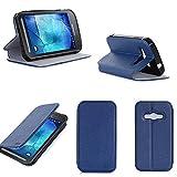 Samsung Galaxy Xcover 3 / Galaxy Xcover 3 VE 2016 Value Edition SM-389F Hülle blau Ultra Slim Tasche Leder Style Cover mit Stand - Zubehör Etui Samsung Xcover 3 outdoor Flip Case Schutzhülle (PU Leder, Blue) - XEPTIO accessoires 2015