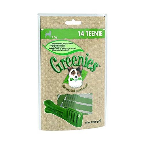 GREENIES Snacks Für Hunde Kleiner Größe 80 Gramm Teenie Reinigung Zähne (Große Greenies)