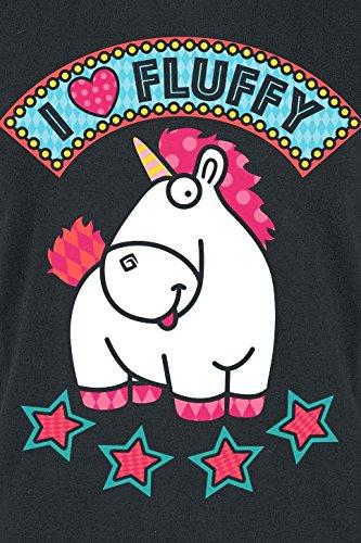 Minions Unicorn - Love Fluffy Maglia Donna Nero Nero