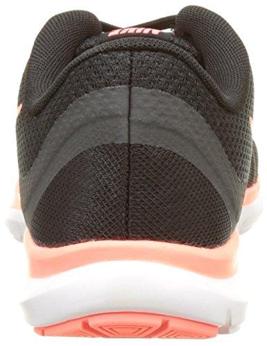 Nike Wmns Flex Trainer 6, Scarpe Indoor Multisport Donna Multicolore (Black/lava Glow/anthracite)
