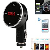 Bluetooth FM Transmitter , Colorful(TM) Drahtlose Bluetooth LCD MP3 Player Auto Kit SD MMC USB FM Transmitter