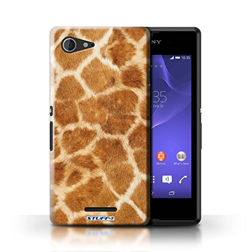 Kobalt® Imprimé Etui / Coque pour Sony Xperia E3 / Vache/Brown conception / Série Motif Fourrure Animale Girafe