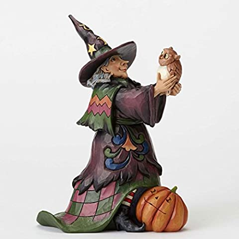 Jim Shore Hoot n Howl For Halloween Witch Holding Owl Figurine 4053862 HWC New by (Halloween Jim Shore)