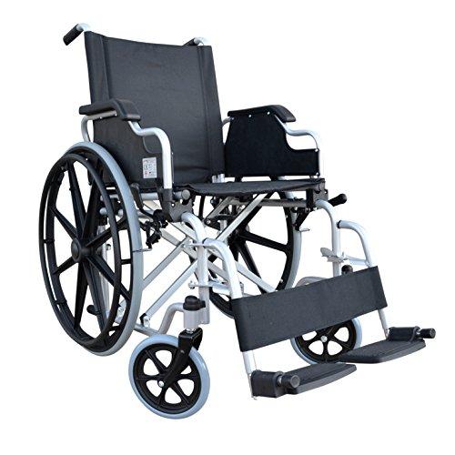 POLIRONESHOP DELO Klappbarer rollstuhl für personen mit körperlichen beeinträchtigungen und ältere menschen aus aluminium leicht zu selbst antreibbar für behinderte menschen mit behinderung und senioren leicht transportieren und verstauen postoperativen orthopädisch orthopädischer wirtschaftliche außen und innen reise