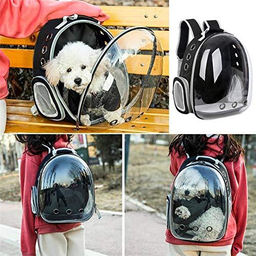 Imagen para Cat Carrier Mochila Transparente Pet Carrier Mochila Cápsula espacial Cachorro Bolsa de viaje Portátil Transpirable Cómodo Portador de mascotas para gatos y perros pequeños de viaje al aire libre