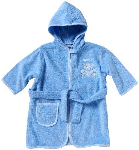 Playshoes Frottee-Bademantel 340101 Jungen Babybekleidung/ Bademntel, Gr. 98/ 104 Blau (blau 7)