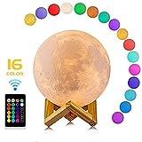 3D Kreatives Mondnachtlicht Einzigartiges Design USB LED Magische Mond Nacht Licht Mondschein Tisch Schreibtisch Mond Lampe Geschenk Home Decoration Lampen (20cm)