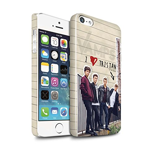 Offiziell The Vamps Hülle / Glanz Snap-On Case für Apple iPhone 5/5S / James Muster / The Vamps Geheimes Tagebuch Kollektion Tristan
