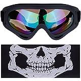 Lictin Skibrille mit Gesichtsmaske Motorradbrille Goggle Schneebrille Snowboardbrille