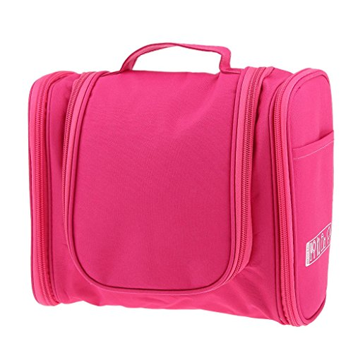 Generic Imported Multifunction Travel Toiletry Wash Cosmetic Bag Makeup Hanging Storage Rose