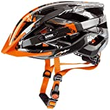 Uvex I-vo C Casco de Ciclismo, Unisex adulto, Negro/Naranja, 56-60 cm