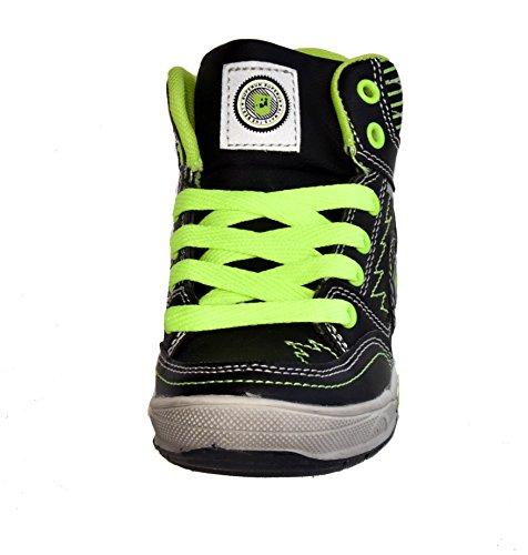 TMY 5126A très tendance et de baskets pour enfant noir/jaune fluo taille :  25–36 Multicolore - Schwarz/ Neon Gelb