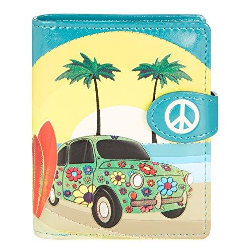 Shagwear Junge-Damen Geldbörse, Small Purse: Verschiedene Farben und Designs: (Wellenreiten Aquamarin/New Surfing)