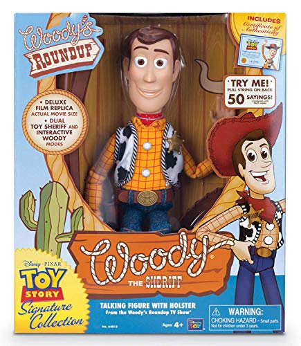 MTW Toys 64012 Actionfigur zu Disney Pixar Toy Story-Interaktive Spielfigur Sheriff Woody Collector Edition mit Deutscher Sprache, ca. 40 cm, bunt