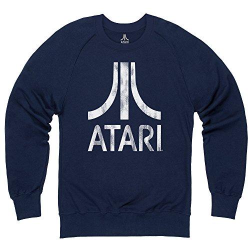 official-atari-logo-felpa-girocollo-uomo-blu-navy-s