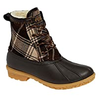 Pendleton Heritage Plaid Duck Boot, Brown, Size 5