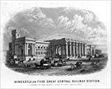 Photographic Print of Newcastle-upon-Tyne Great Central Railway Station (engraving)