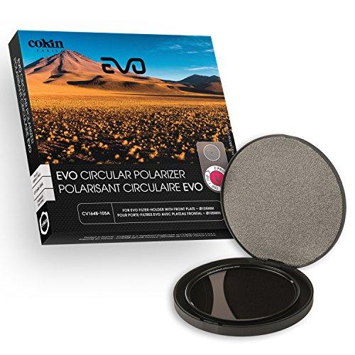Cokin cv164-105A Filter Polfilter c-pl Evo 105mm für Filterhalter Evo Größe L/Optische mit Gewinde von 105mm schwarz