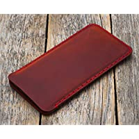 Red leather case for iPhone XS Max cover sleeve