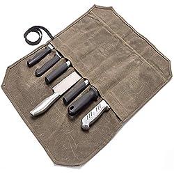 QEES Sacoche Couteaux Cuisine Trousse de Chef Vide Etui À Couteaux (Sans Couteaux)