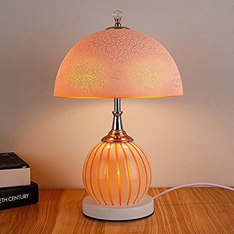 SUNQIAN-Dekorative Lampen Schlafzimmer Glas, Garten Retro-Studie