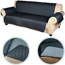 Housse de canape 3 places avec accoudoirs - Protege canape 3 places ...