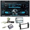 Kenwood DPX-5000BT Autoradio mit Bluetooth Freisprecheinrichtung CD USB MP3 AUX In Einbauset für Mercedes Vito Viano W639