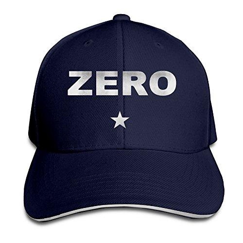 NUBIA Zero Logo Sandwich Peak Sunbonnet Hat Flex Fit Hat Black JZZDEJZW015342 -