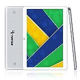 Yuntab K107 Tablet 10.1 pollici 3g Tablet Android 5.1 Quad core 1,3GHz MT6580 IPS 1280 * 800 (16 Go Flash 1GB di RAM, GPS, Wi-Fi, ridurre in pani 3G SIM doppio Cartes Versare Internet et Appel) Phablet 5000mAh batteria (Bianca)