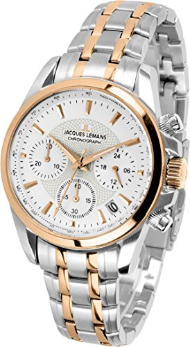 Jacques Lemans Liverpool Women's Quartz Watch with Silver Analog Quartz Stainless Steel Coated 1/1752K