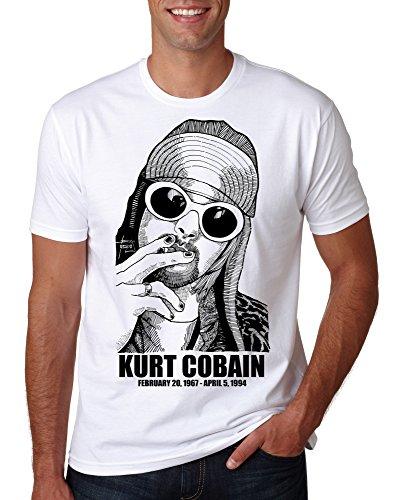 2019 Cobain Kurt Nirvana T Shirt Utero Mens Nevermind Smiley Face Womens Child Band Rock - L