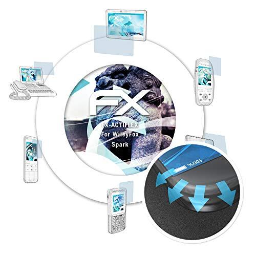 atFolix Schutzfolie passend für WileyFox Spark Folie, ultraklare & Flexible FX Bildschirmschutzfolie (3X)