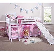 Cabina cama cama en color blanco con hada con tienda de campaña 66-WG-FAIRIES