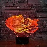 Forme de voiture volante LED lampe de chevet couleur créative décoration 3D lumière créative