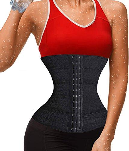 Damen Taille Glas Trainer Tummy Fat Burner Körper Stahl Knochen Shaper Sport (S(2-3 Days Delivery), Black(Local Seller))