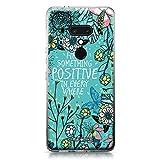CASEiLike HTC U12 Plus case, Blooming Flowers Turquoise