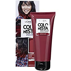 L'Oréal Paris Colorista Washout 2 Semaines Couleur Temporaire pour Cheveux Rouge - Lot de 3