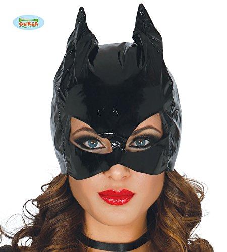 Schwarzes Vinyl CatWoman Maske für sexy Kostüme