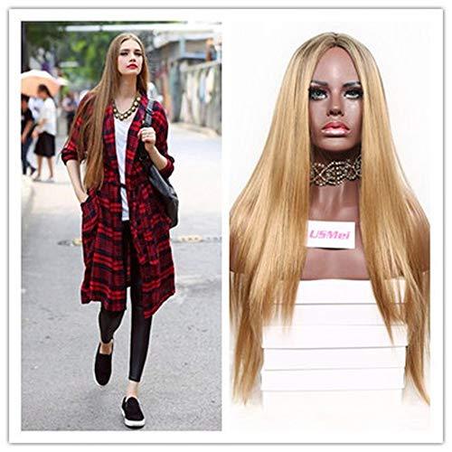 Gaddrt 30 in Beständig gegen die Hitze von Langen Haaren und geradem synthetischen Zwei Tönen von Perücken Frauen ()