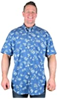 Big Mens Blue Espionage Lynot Short Sleeve Shirt 2xl 3xl 4xl 5xl 6xl 7xl 8xl
