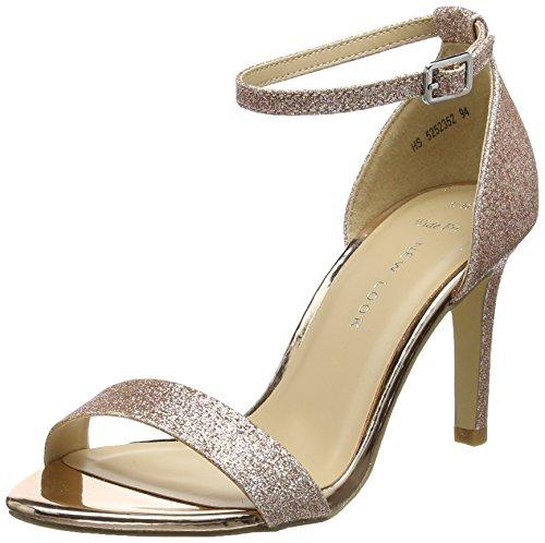 New Look Donna, Sense Open-Toe Heels Gold (Rose Gold)