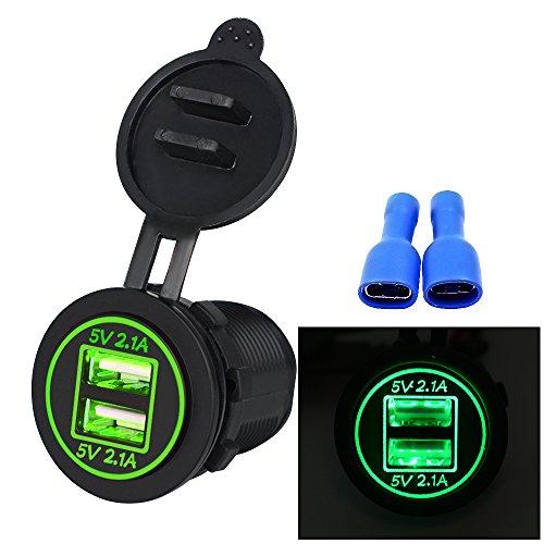 Cargador de Coche, Samoleus Doble Puerto USB Adaptador Cargador USB Móvil para...
