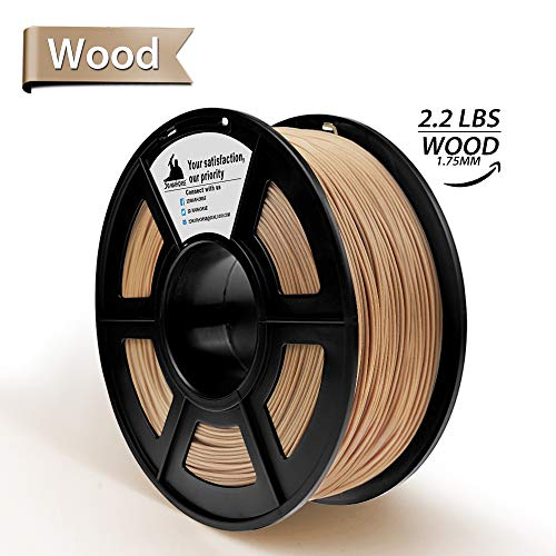 Price comparison product image Real Wood PLA 3D Printer FilamentWood Filament 1.75 mm, 1KG(2.2LBS) Spool,  Dimensional Accuracy + / - 0.02 mm, Wood FilamentNo Clogging