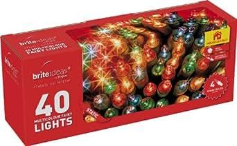 Brite Ideas Festive Guirlande lumineuse 40ampoules Multicolores Intérieur statique